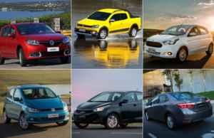 Carros mais financiados em 2015